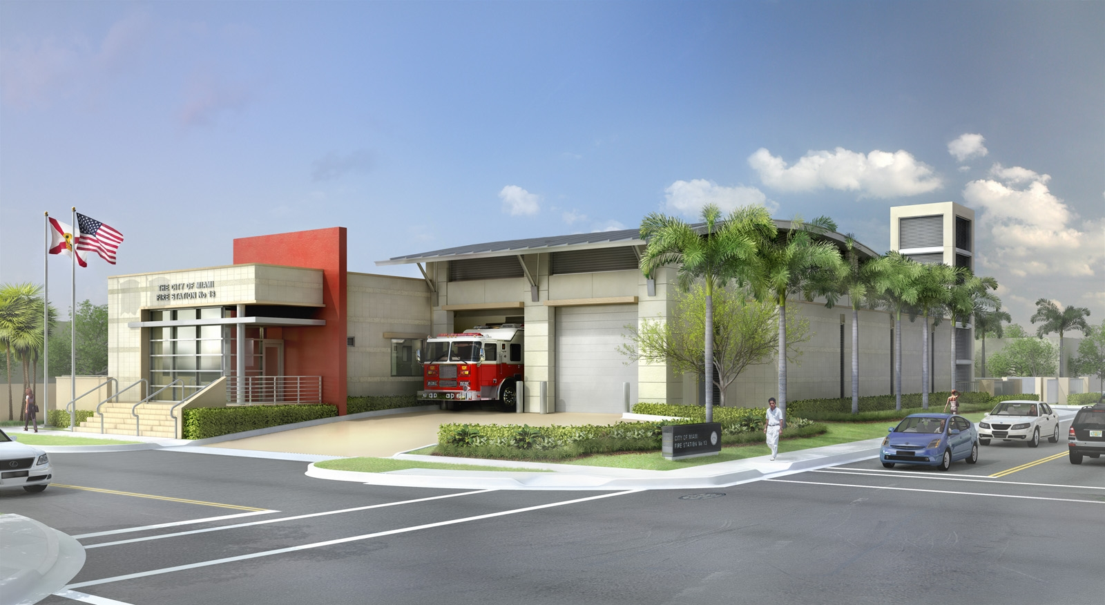 city of miami fire station # 13 | lewis aqüi landscape +
