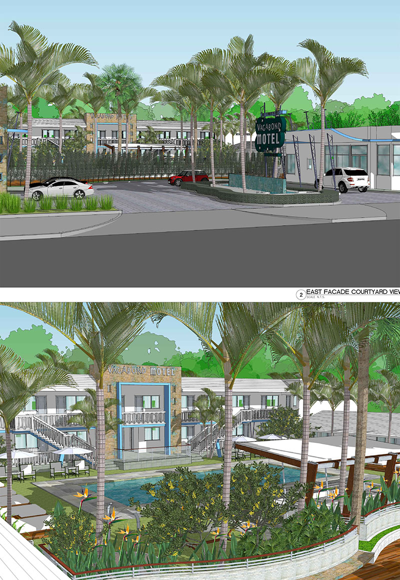 Vagabond motel lewis aq i landscape architectural for Motel exterior design